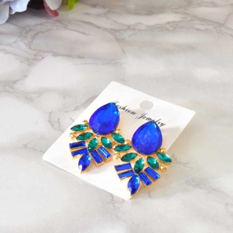 Elegantné modrozlaté náušnice
