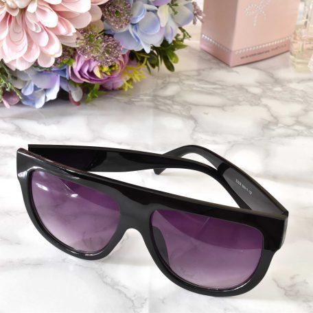 elegantné dámske slnečné okuliare čierne s fialovým sklom uv 400