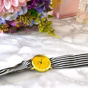 plátené elegantné luxusné dámske hodinky s viazaním